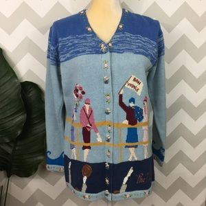 """Vintage storybook knits """"the majestic"""" cardigan"""
